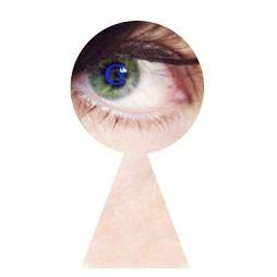 Eye through keyhole ©Beth Alexander