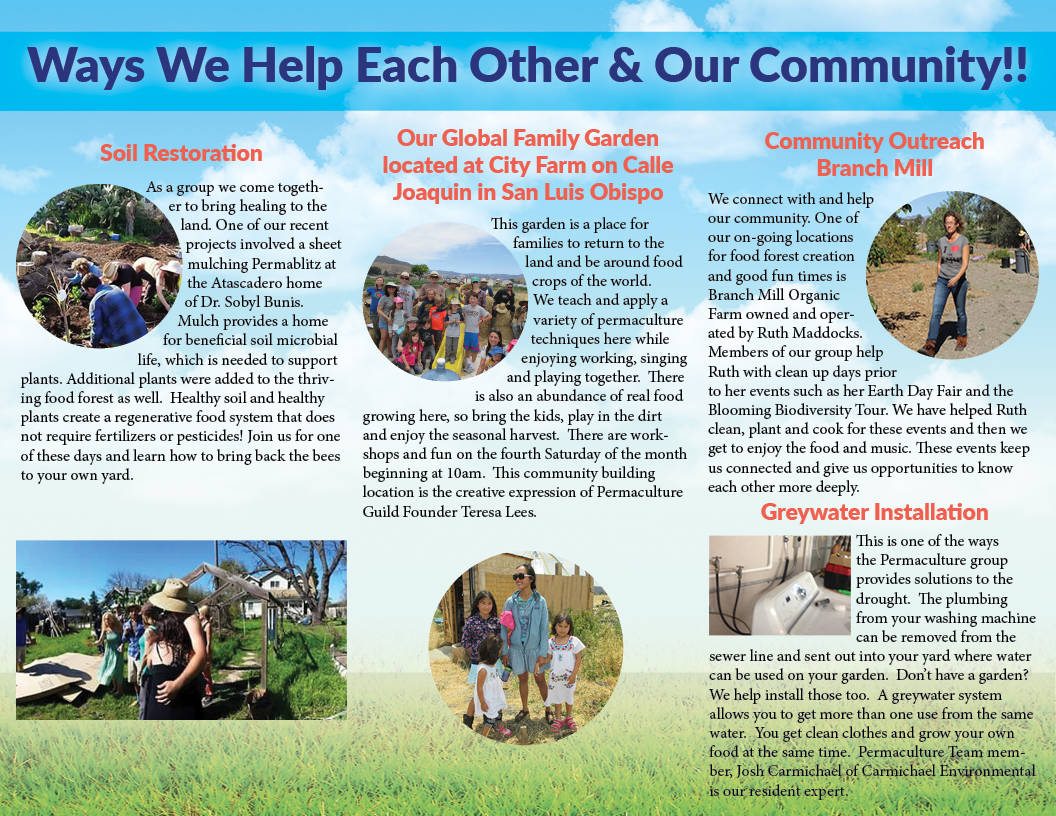 Tri-fold Brochure for SLO Permaculture Guild