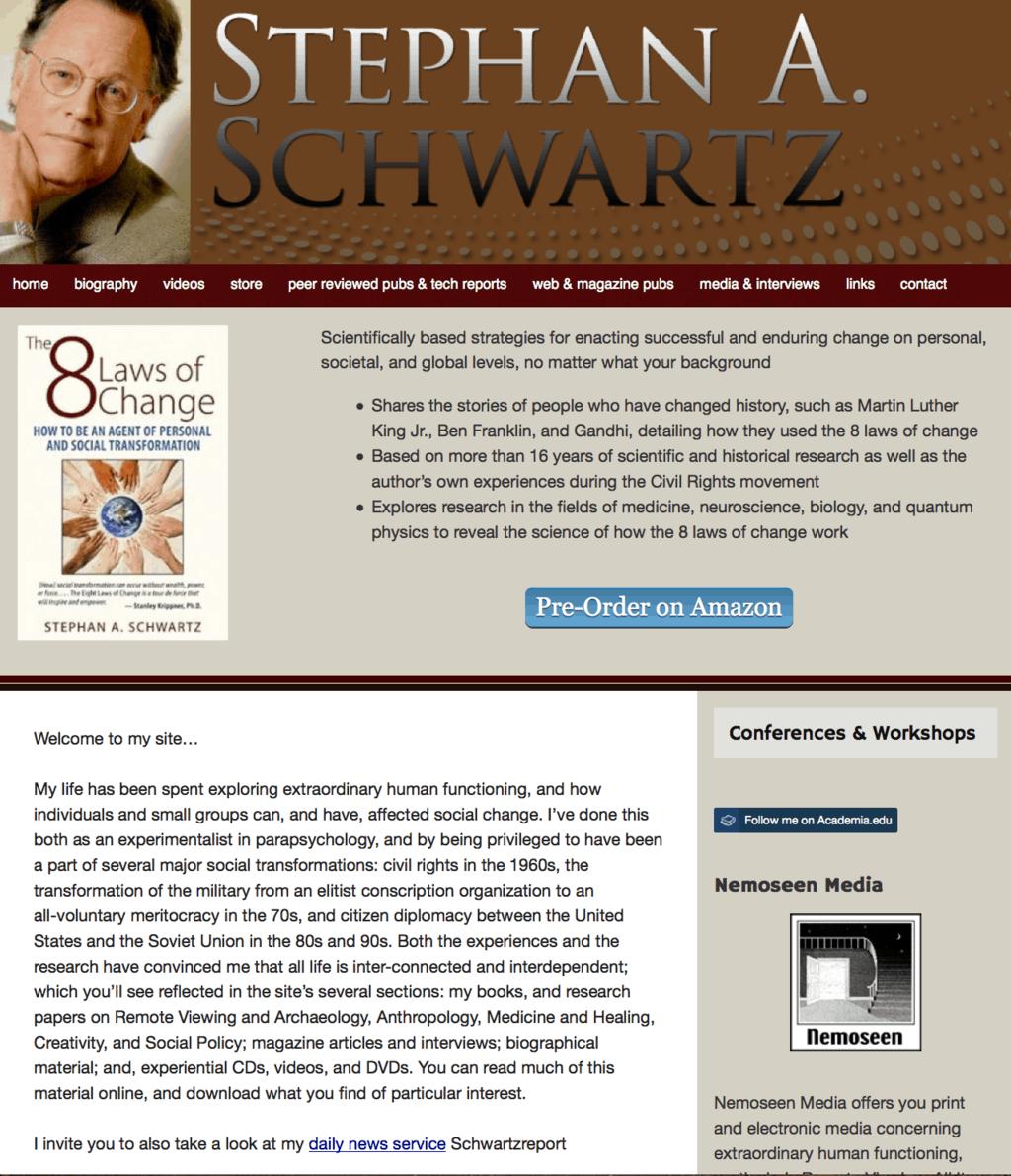 Site for Stephan Schwartz