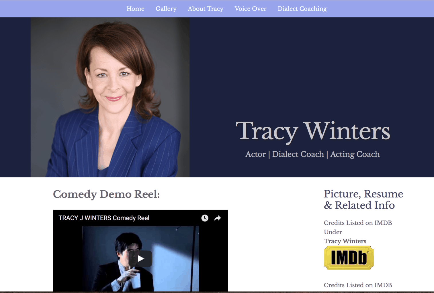 Tracy Winters – Actor
