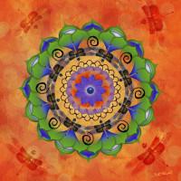Dragonfly Mandala Digital Art by Beth Alexander