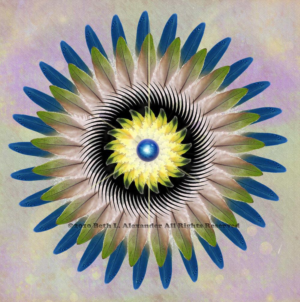 """The Winged Ones"" Mandala Art"